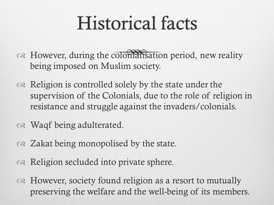 Reality in MalaysiaReality in Malaysia  Post-Colonial period – Religion belongs to the state (under the custodian of the Sultans).