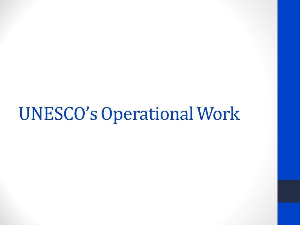 UNESCO's Operational Work