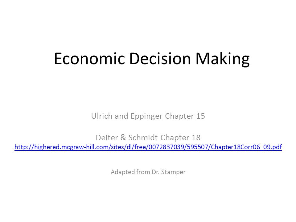 Step 4: Consider the Influence of Qualitative Factors Ulrich & Eppinger, Product Design and Development Interactions between the Project and the Firm (e.g.