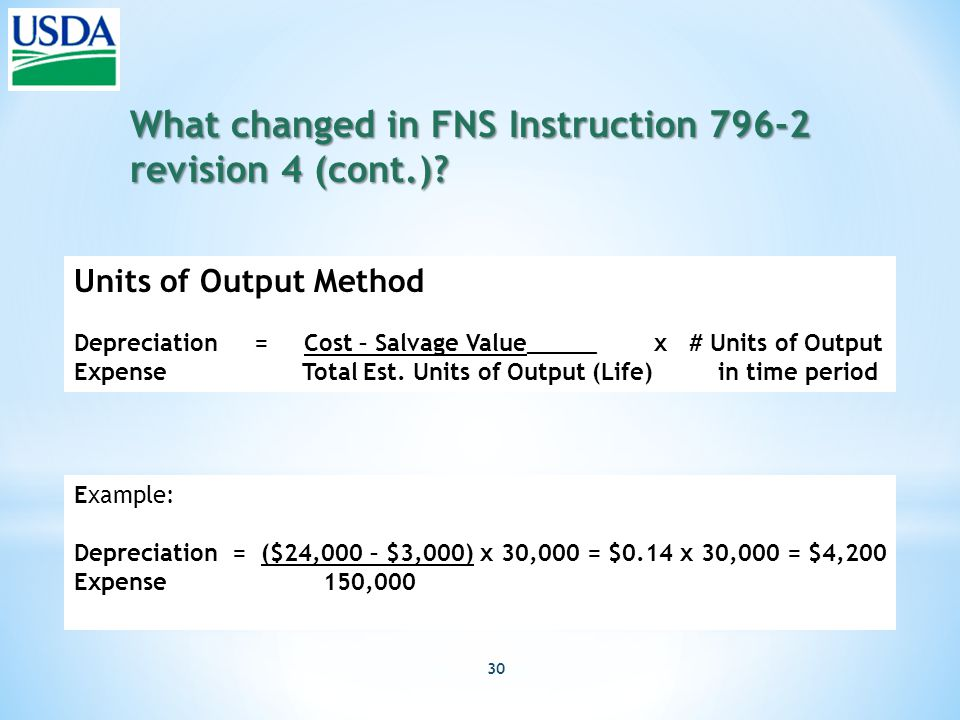 30 What changed in FNS Instruction 796-2 revision 4 (cont.).