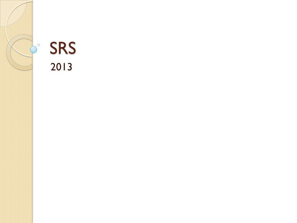SRS 2013