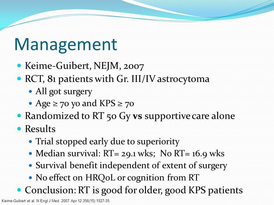 Management Keime-Guibert, NEJM, 2007 RCT, 81 patients with Gr.