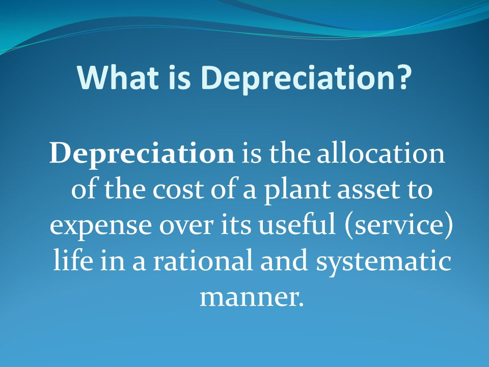 METHODS & USAGE OF DEPRECIATION Imagine a truck bought on 01.01.2001 at an amount $41,000 and a usefuful life of 5 years or 100,000 miles can be driven.And also salvage value of the truck is $1,000.