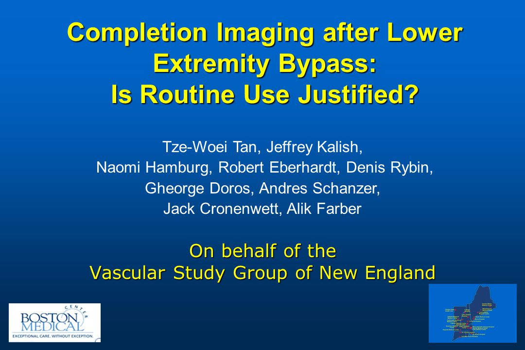 Completion Imaging after Lower Extremity Bypass: Is Routine Use Justified.