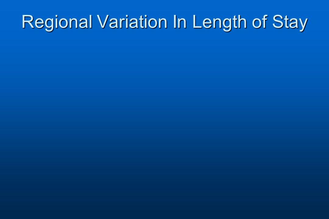 Regional Variation In Length of Stay