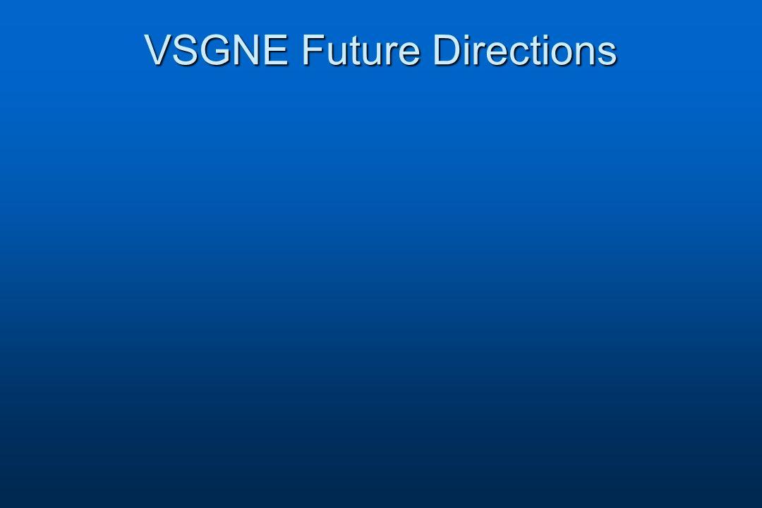 VSGNE Future Directions