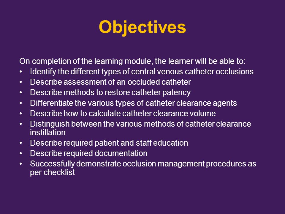 Assessment for Occlusion Management