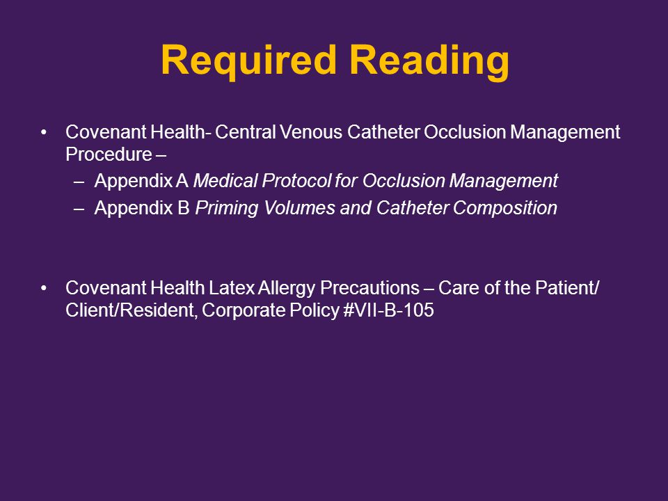 Reconstituting Cathflo See Resource List for video