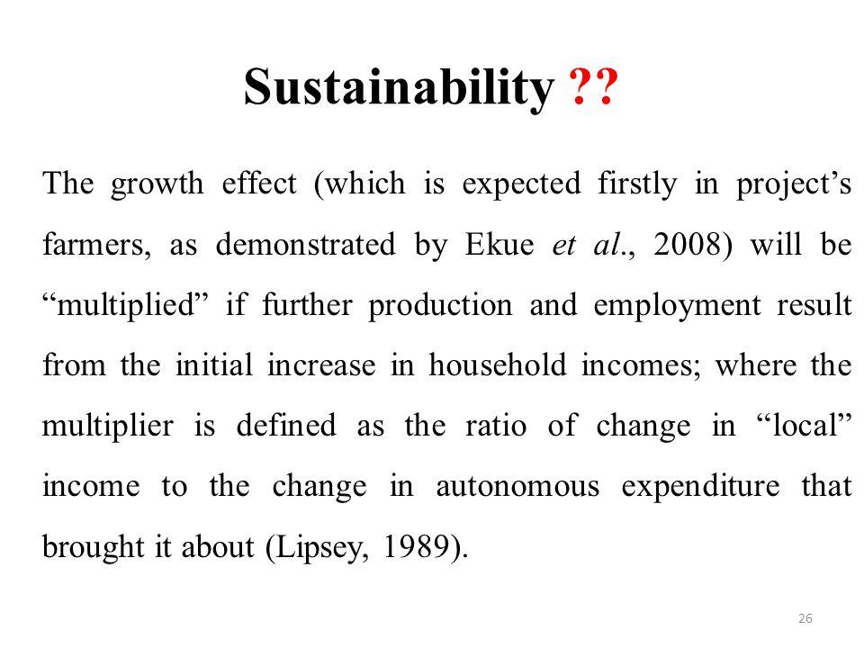 Sustainability .