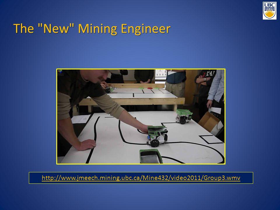 http://www.jmeech.mining.ubc.ca/Mine432/video2011/Group3.wmv The New Mining Engineer