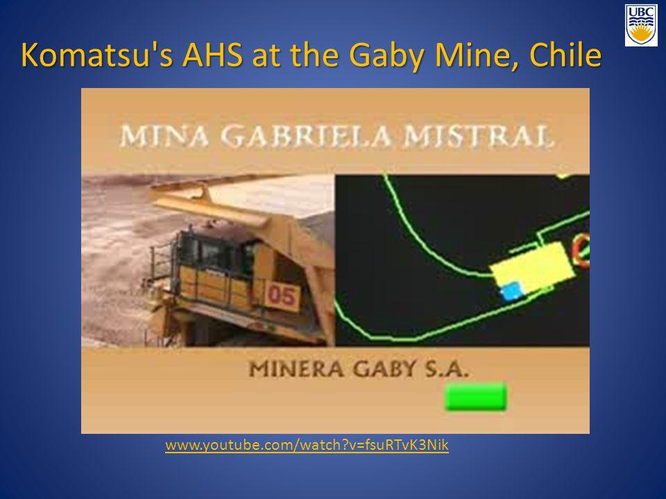 Komatsu s AHS at the Gaby Mine, Chile www.youtube.com/watch?v=fsuRTvK3Nik
