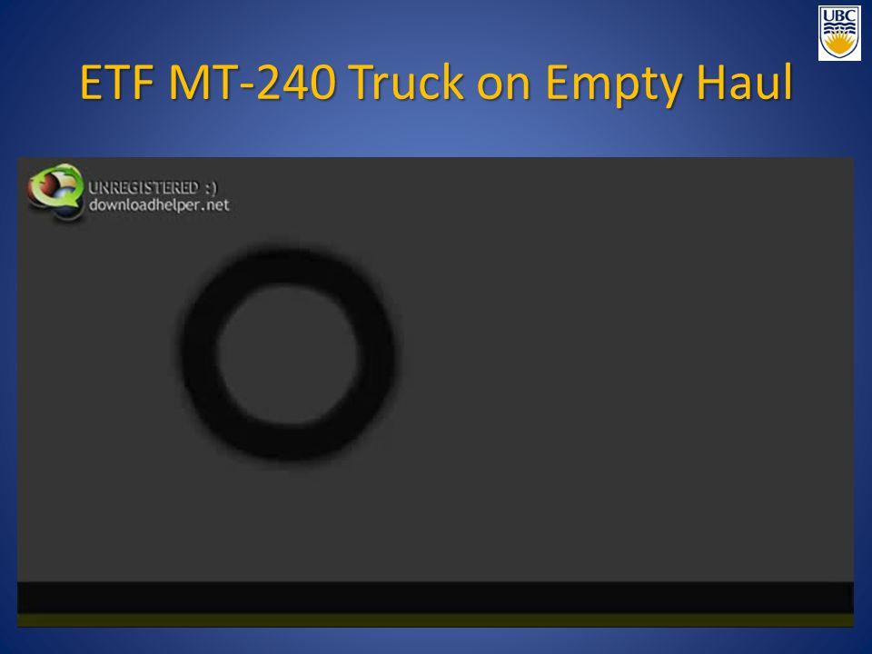 ETF MT-240 Truck on Empty Haul