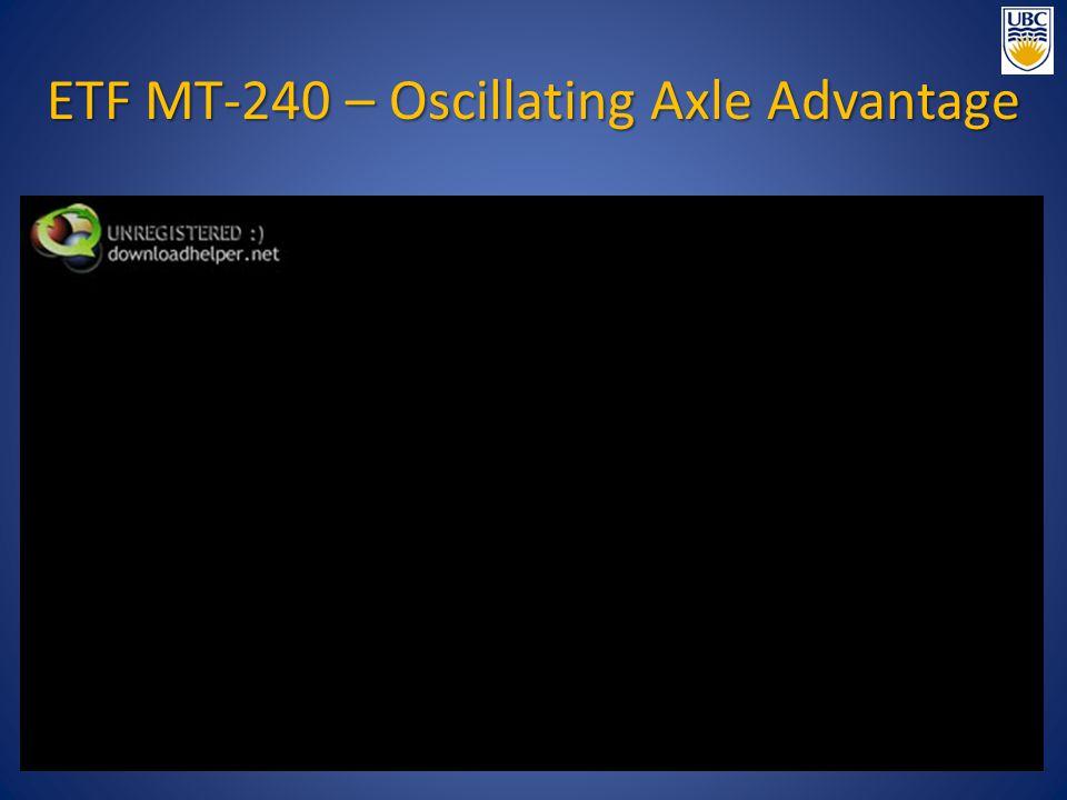 ETF MT-240 – Oscillating Axle Advantage
