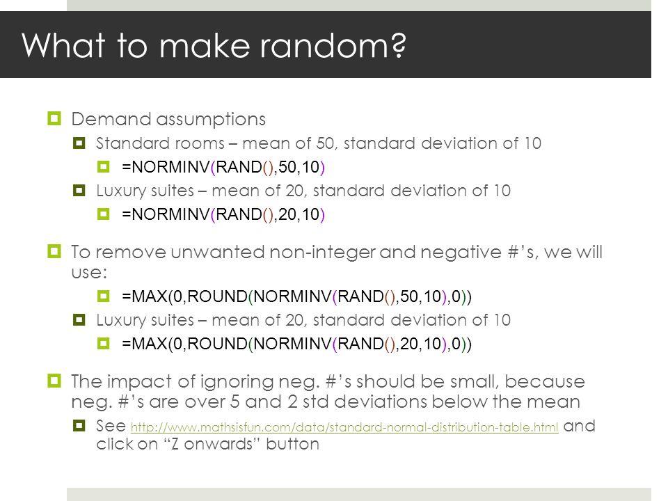 What to make random.