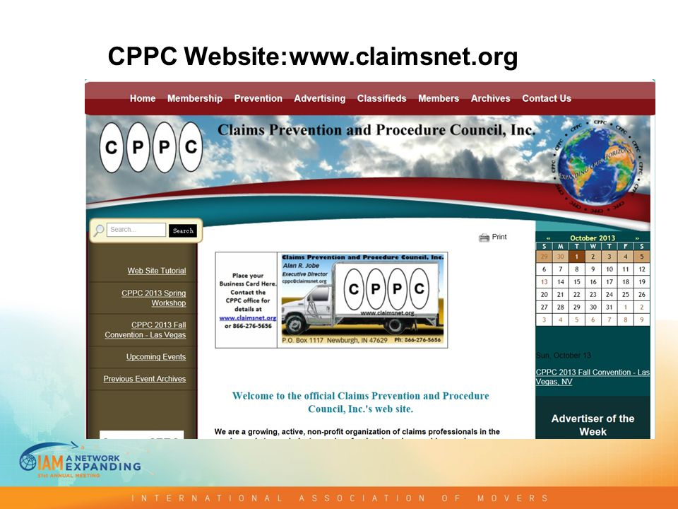 CPPC Website:www.claimsnet.org