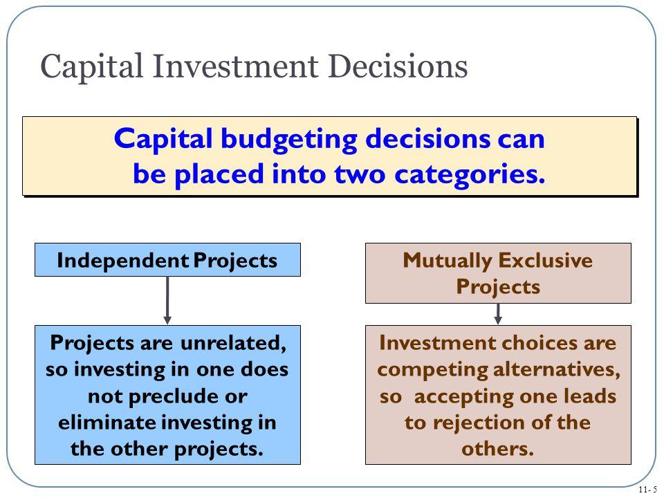 11- 6 Capital Budgeting Methods