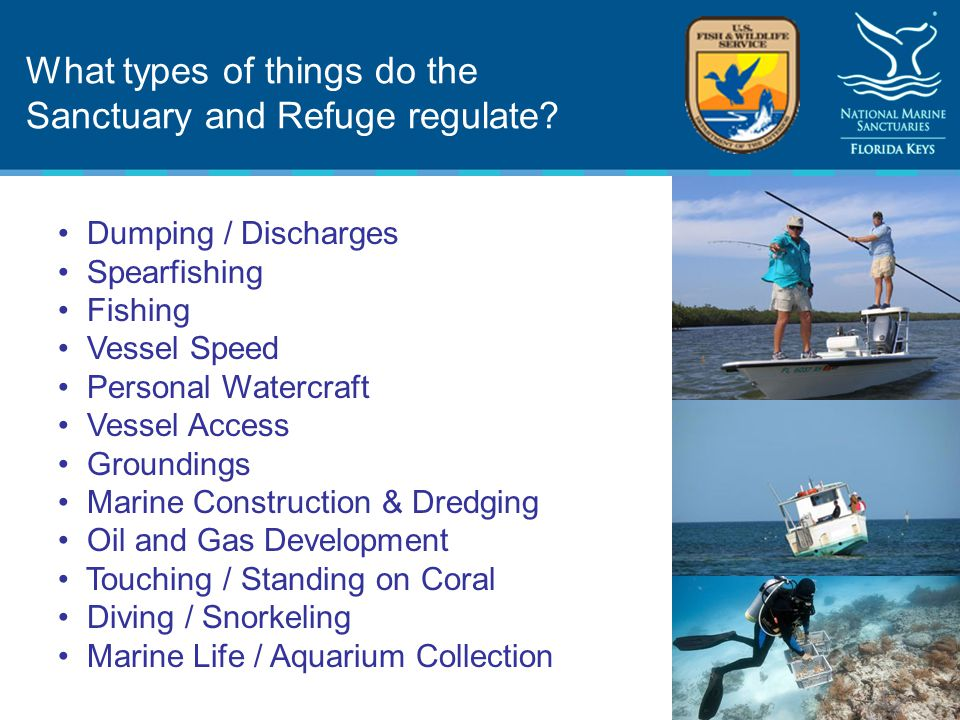 What types of things do the Sanctuary and Refuge regulate.