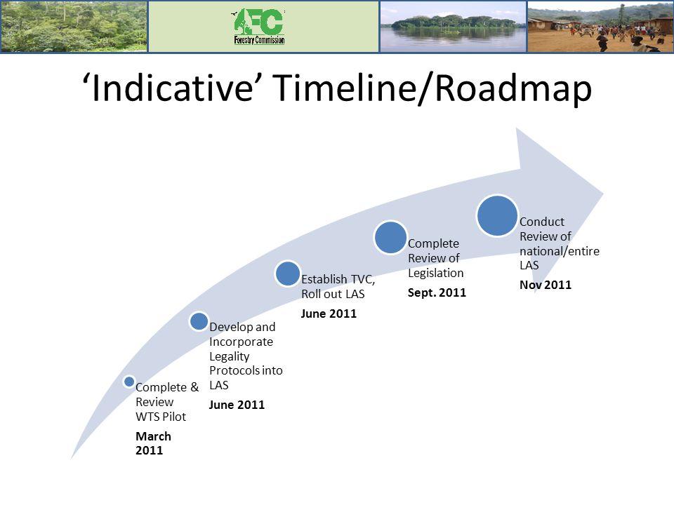 'Indicative' Timeline/Roadmap