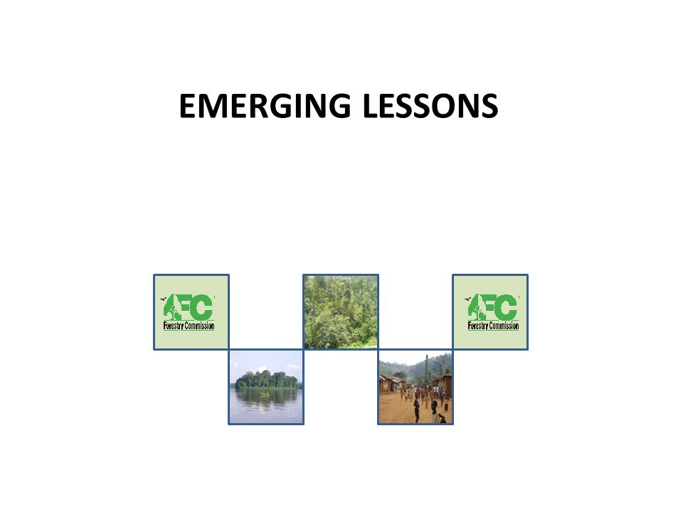 EMERGING LESSONS