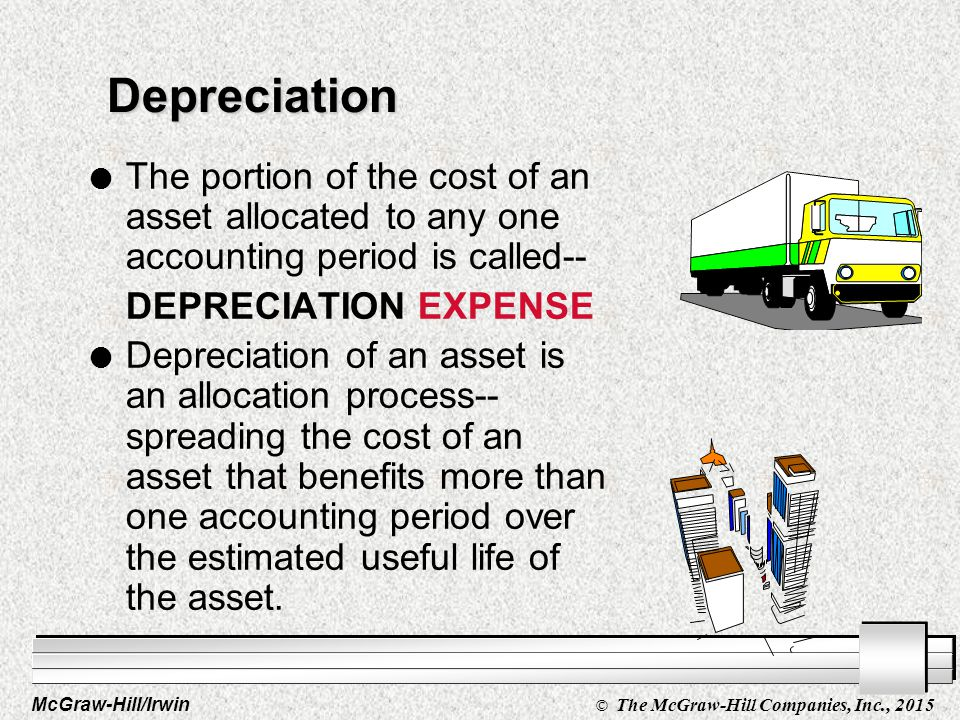 McGraw-Hill/Irwin © The McGraw-Hill Companies, Inc., 2015 Depreciation 9- 16 You've purchased an asset that will be used to benefit more than one year of operations.
