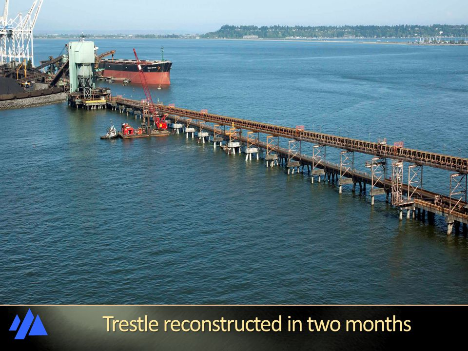 Trestle reconstructed in two months Trestle reconstructed in two months