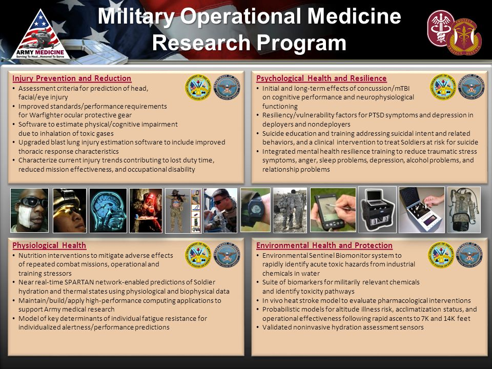 Military Operational Medicine Research Program Physiological Health Nutrition interventions to mitigate adverse effects of repeated combat missions, o