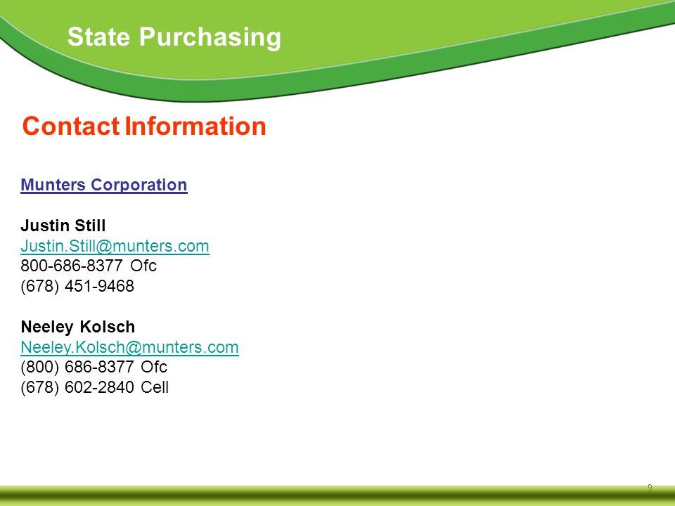10 State Purchasing Contact Information Belfor USA Group, Inc.