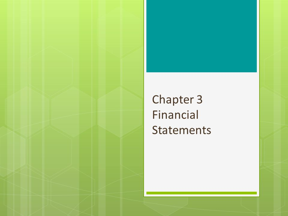 Chapter 3 Outline 3.1 Accounting Principles Generally accepted accounting principles Auditors Accounting conventions Measuring costs and value Recognition principles Managing financial statements The effect of recent accounting scandals 3.2 Financial Statements The balance sheet The income statement The statement of cash flows 3.3 The Tax System Interest and dividends received Depreciation Capital gains Tax rates 2
