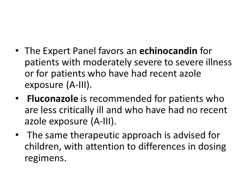 WHAT IS THE TREATMENT FOR CHRONIC DISSEMINATED CANDIDIASIS?