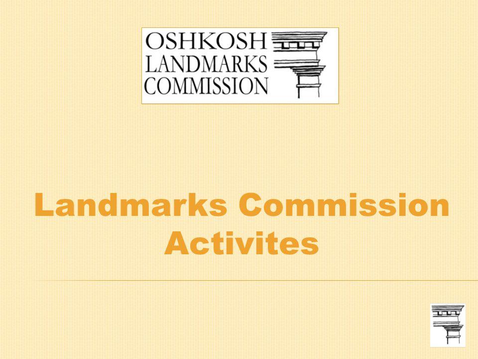 Landmarks Commission Activites