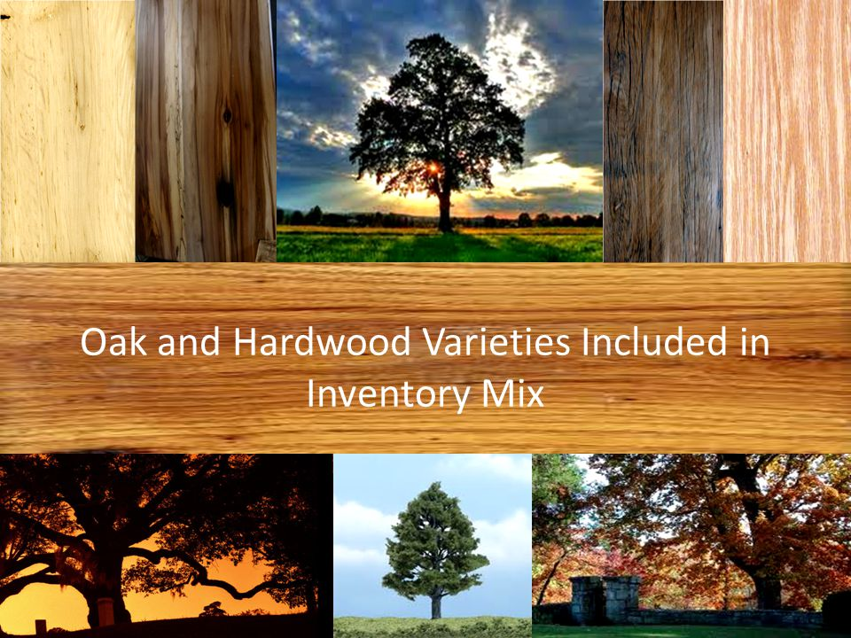 Oak and Hardwood Varieties Included in Inventory Mix