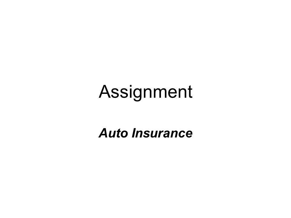 Assignment Auto Insurance