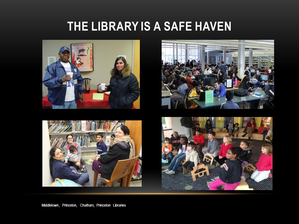 THE LIBRARY IS A SAFE HAVEN Middletown, Princeton, Chatham, Princeton Libraries