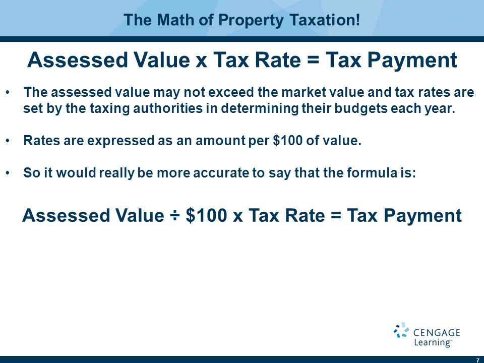 7 The Math of Property Taxation.