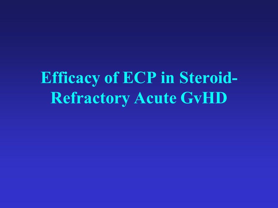 Efficacy of ECP in Steroid- Refractory Acute GvHD