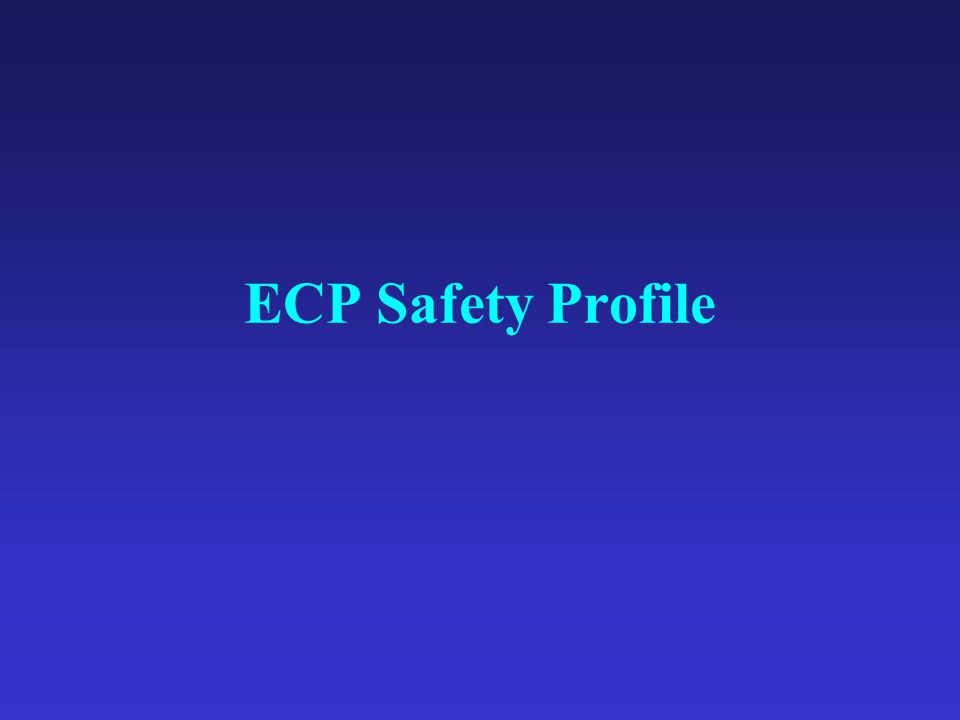 ECP Safety Profile