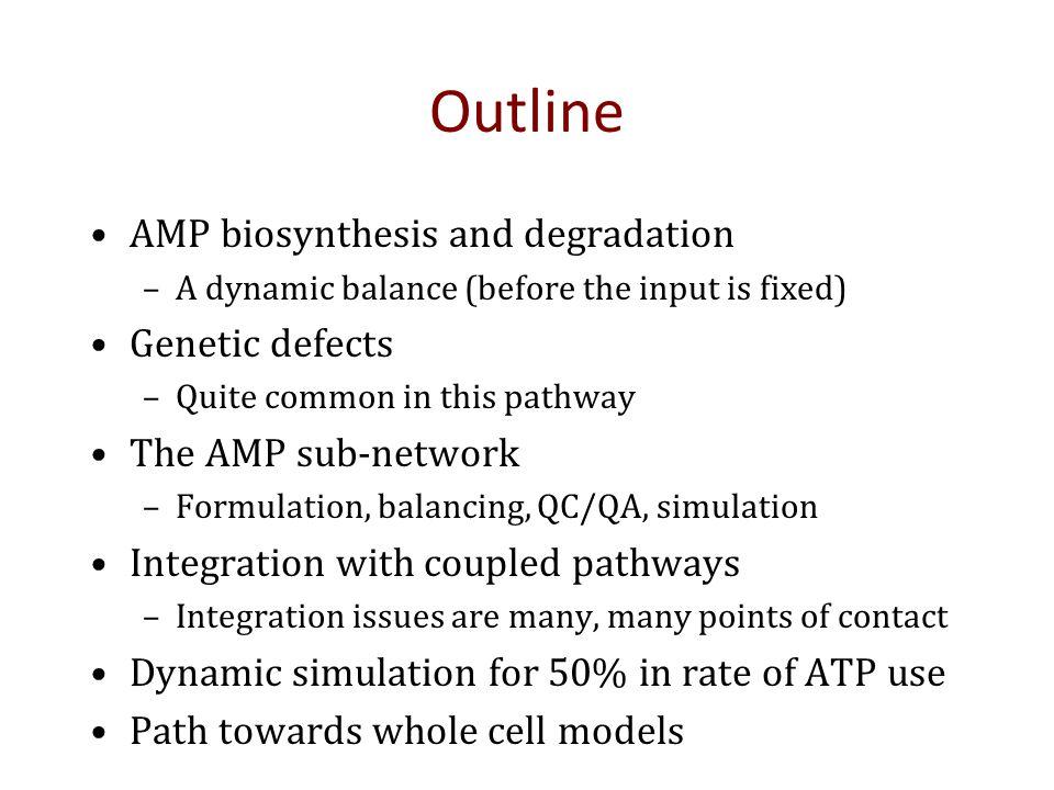 SOME BIOCHEMISTRY Cofactors represent low flux but important pathways
