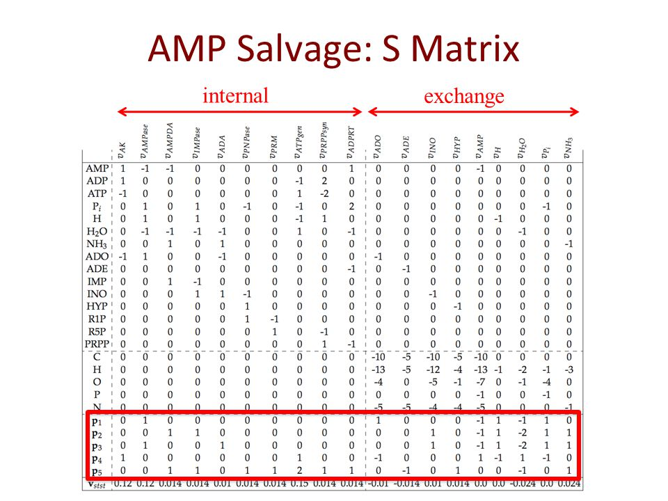 AMP Salvage: S Matrix internal exchange