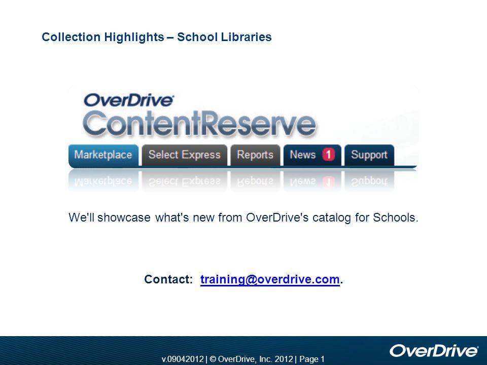 v.10012010 | © OverDrive, Inc. 2010 | Page 1 v.11012010 | © OverDrive, Inc.
