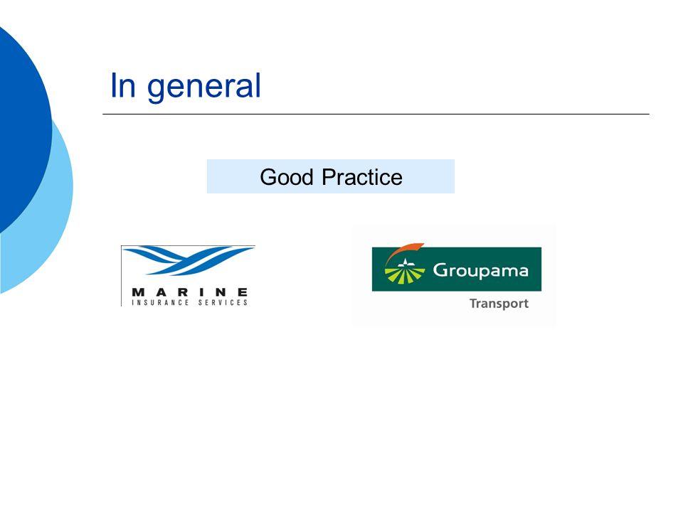In general Good Practice