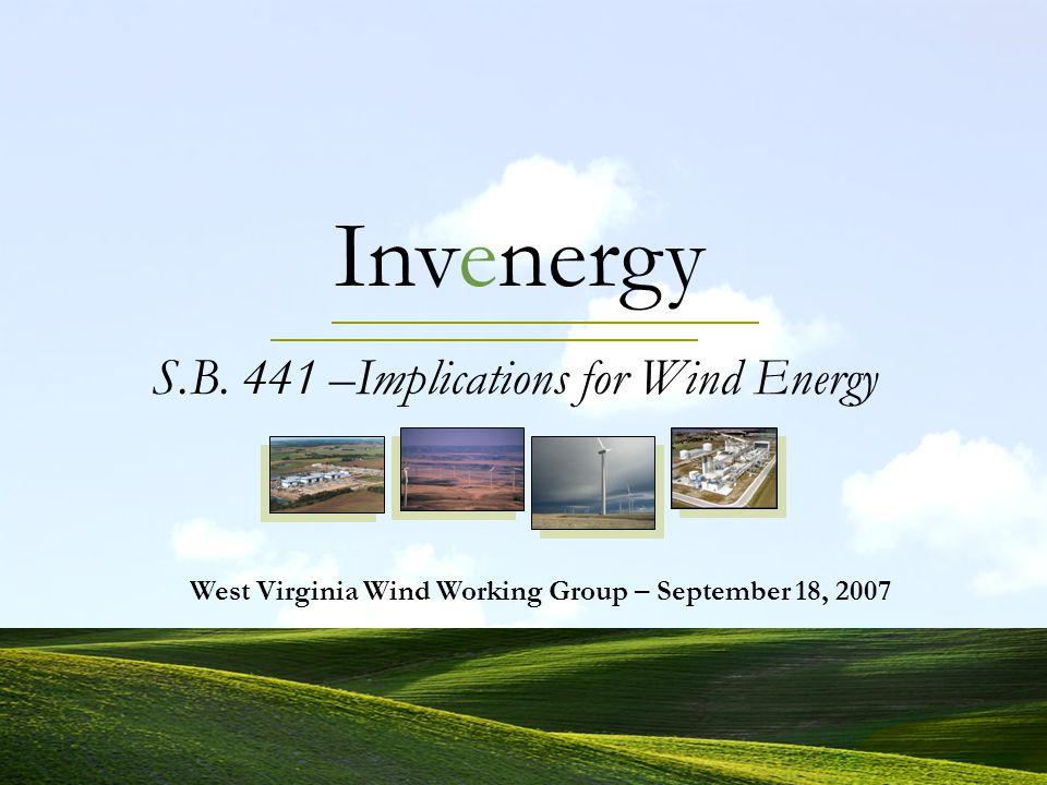 Invenergy 12 Property Taxes Under S.B. 441