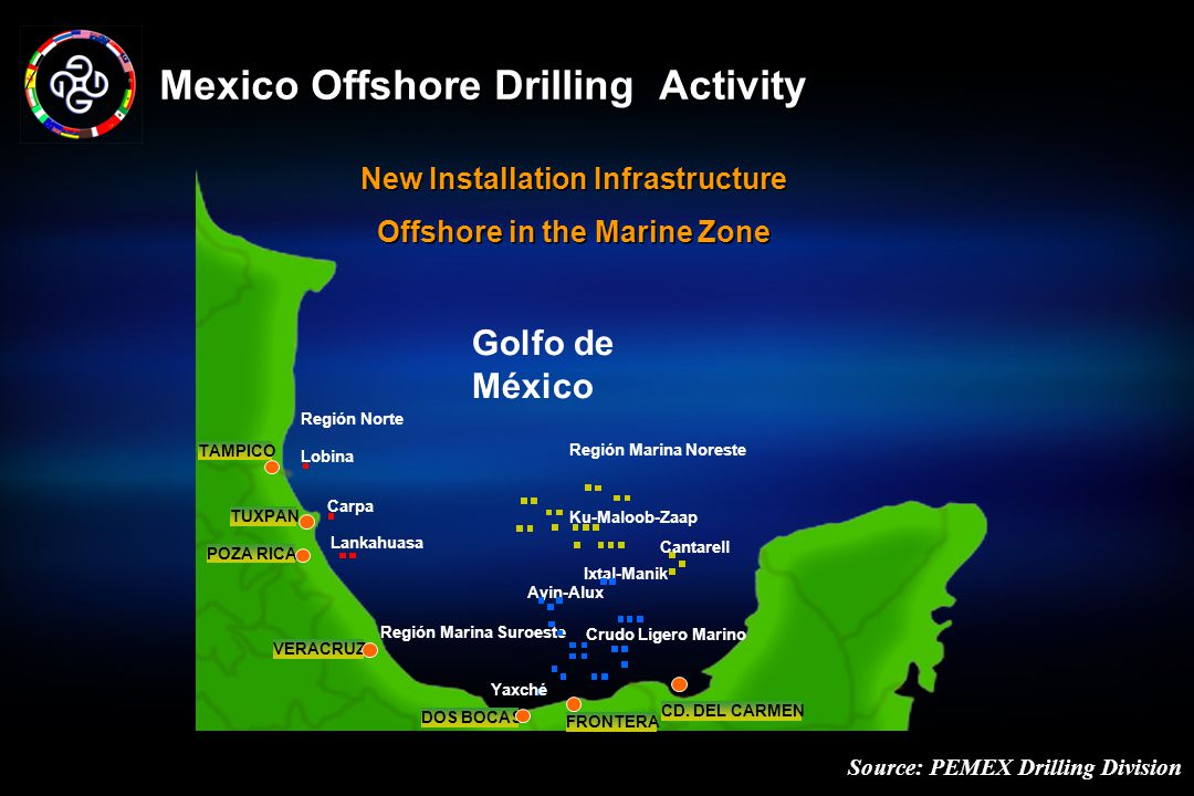 Mexico Offshore Drilling Activity Source: PEMEX Drilling Division DOS BOCAS FRONTERA CD.