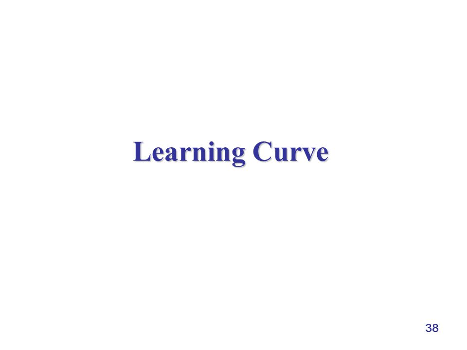 38 Learning Curve