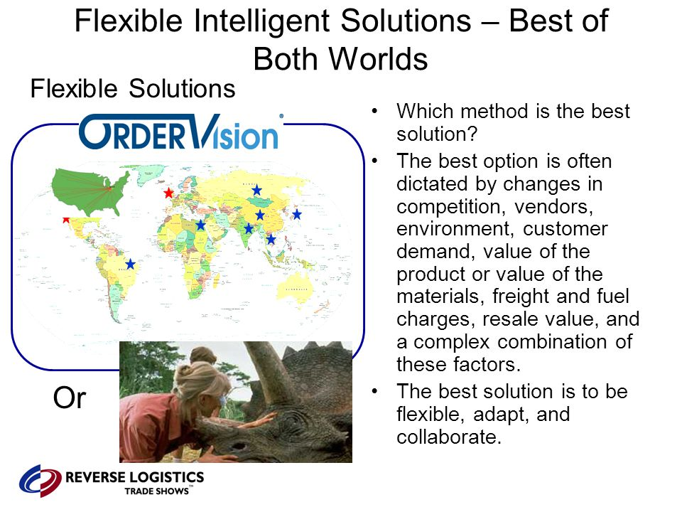Flexible Intelligent Solutions – Best of Both Worlds Flexible Solutions Which method is the best solution.