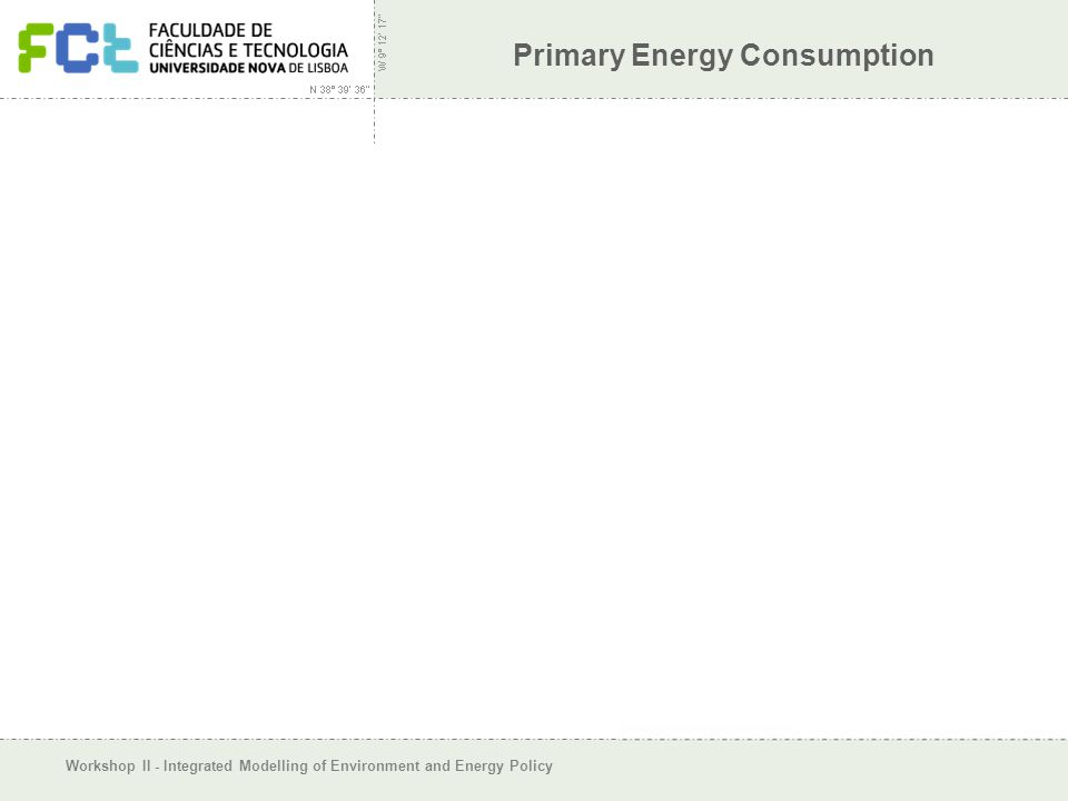 Workshop II - Integrated Modelling of Environment and Energy Policy Primary Energy Consumption