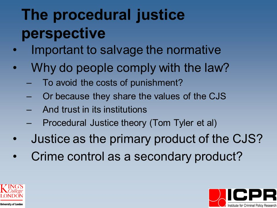 Confidence in justice An idea whose time has come The Green Paper on policing –Responsiveness to local needs –Local autonomy –End to central government targets???.