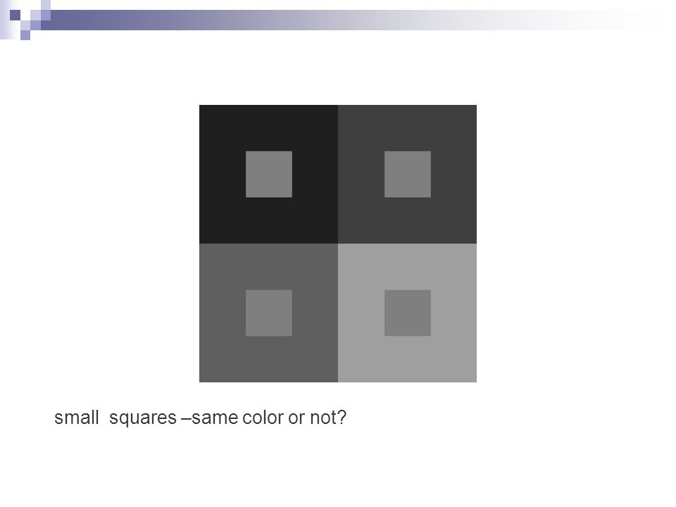 small squares –same color or not?