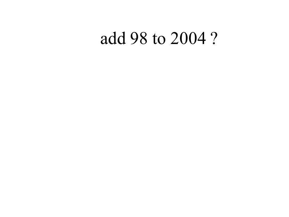 add 98 to 2004