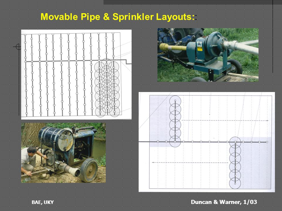 Duncan & Warner, 1/03 BAE, UKY Movable Pipe & Sprinkler Layouts::