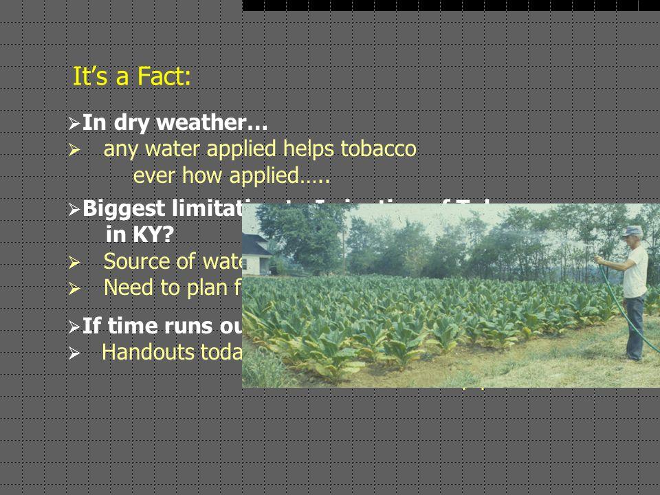Duncan & Warner, 1/03 BAE, UKY Frequency of dry years, Lexington: